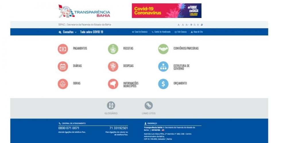 Novo portal do Governo do Estado amplia transparência durante pandemia