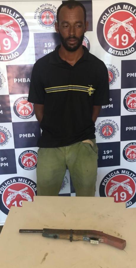 Homem é preso por tentativa de homicídio no Entroncamento de Jaguaquara