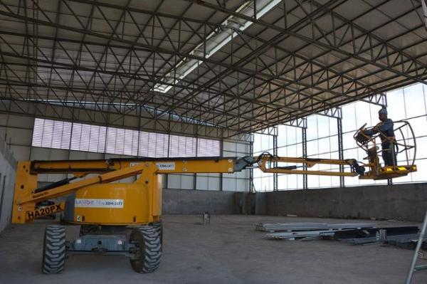 Cobertura do Centro de Iniciação ao Esporte, na Gabriela, está quase concluída