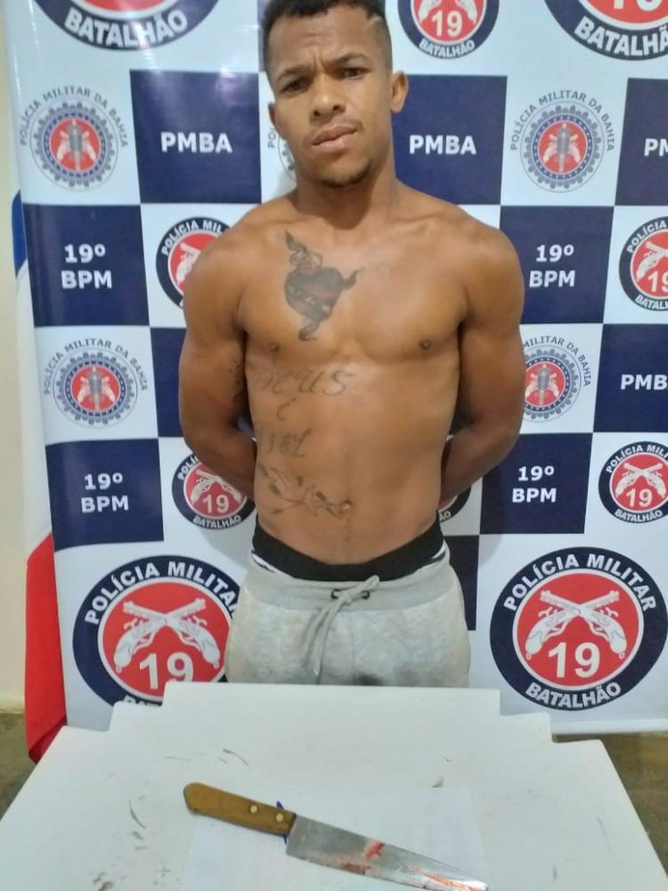 Jaguaquara: PM prende autor confesso de homicídio na Rua da Lagoa.