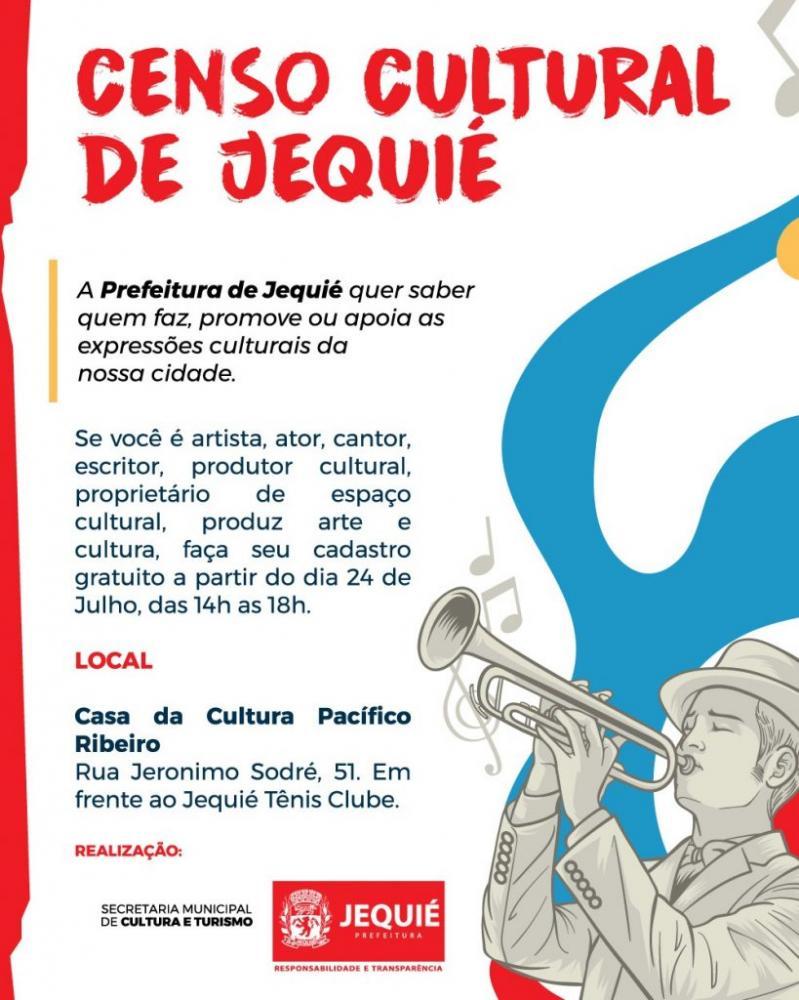 Cadastros para o Censo Cultural de Jequié seguem abertos até dezembro