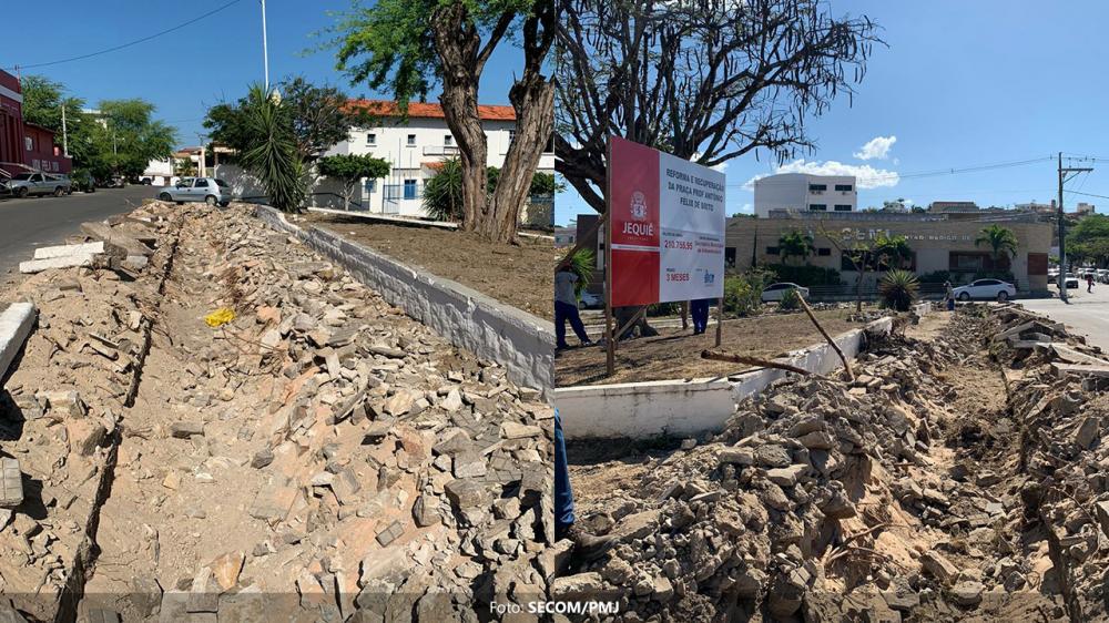 Prefeitura mantém ritmo acelerado das obras da Praça da Criança
