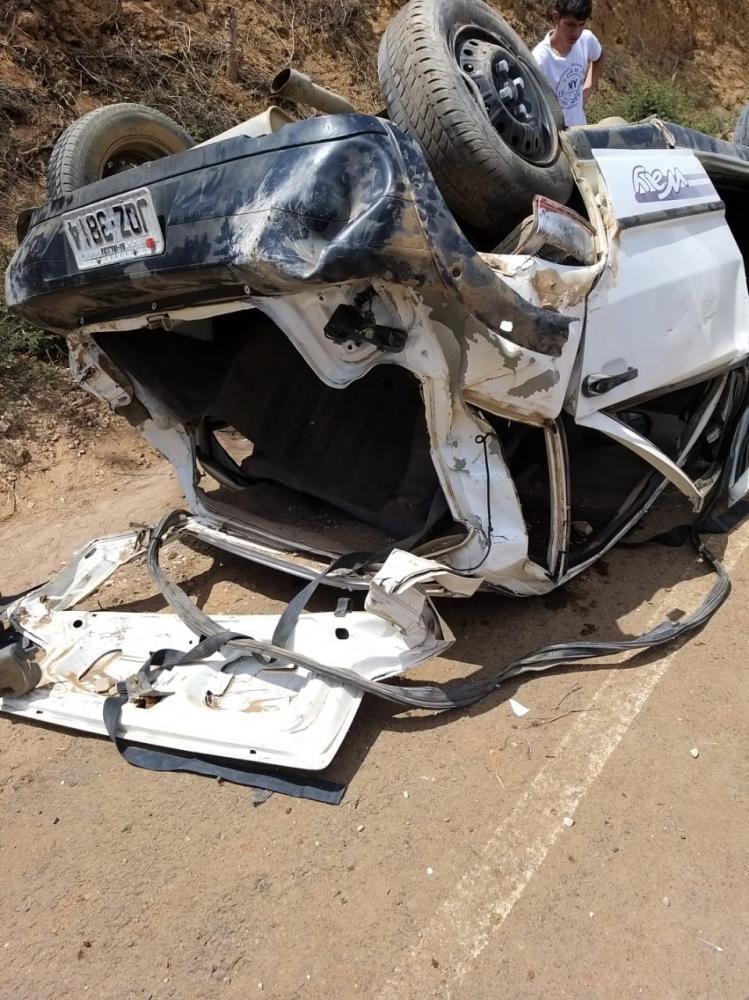 Acidente em Itaquara deixa cinco feridos