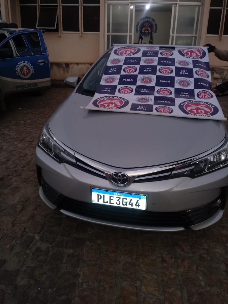 Em Jaguaquara Polícia Militar recupera veículo roubado
