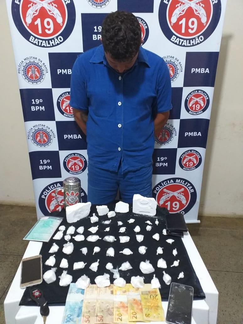 Operação da 3ª CiaPM prende Traficante de Drogas no Entrocamento